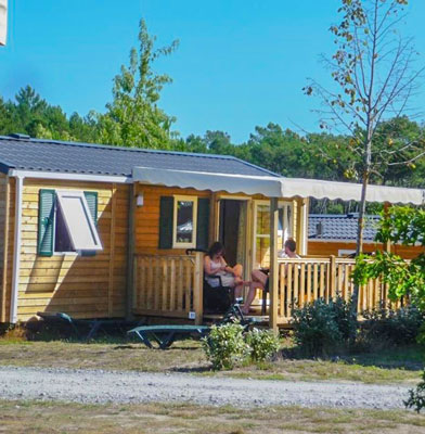 camping location mobil-home 4p landes